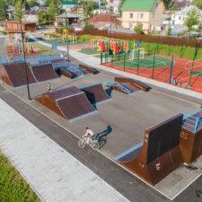 Скейт парк в Верхней Туре