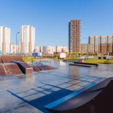 Скейтпарк в ЖК Интеллект Квартал, Тюмень
