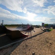 Скейтпарк в городе Полярные Зори
