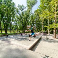 Бетонный скейтпарк в Симферополе