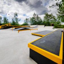 Бетонный скейт парк в Буграх