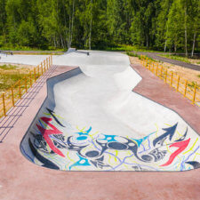 Бетонный скейт парк в Егорьевске