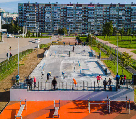 Бетонный скейтпарк ул.Джона Рида 8А