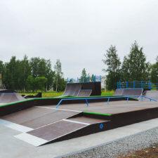 Скейтпарк и памптрек в городе Котлас