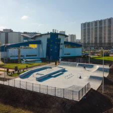 Бетонный скейтпарк ул.Антонова-Овсеенко 2А